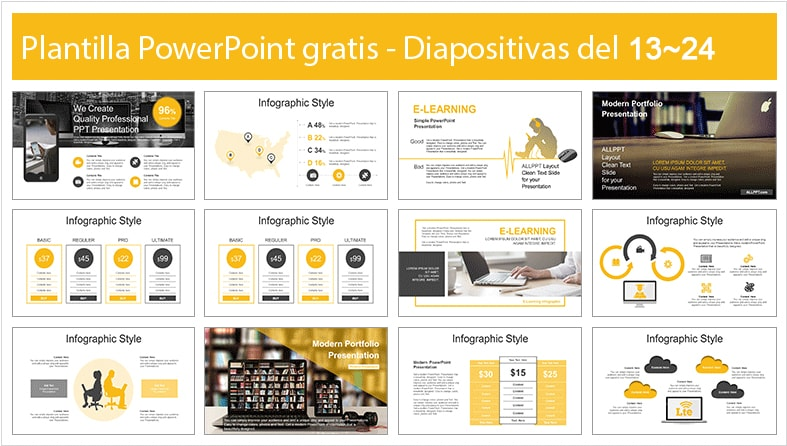 Plantilla power point de cursos online.