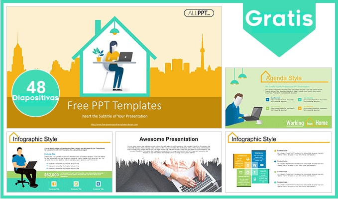 Plantilla power point de trabajo desde casa gratis.