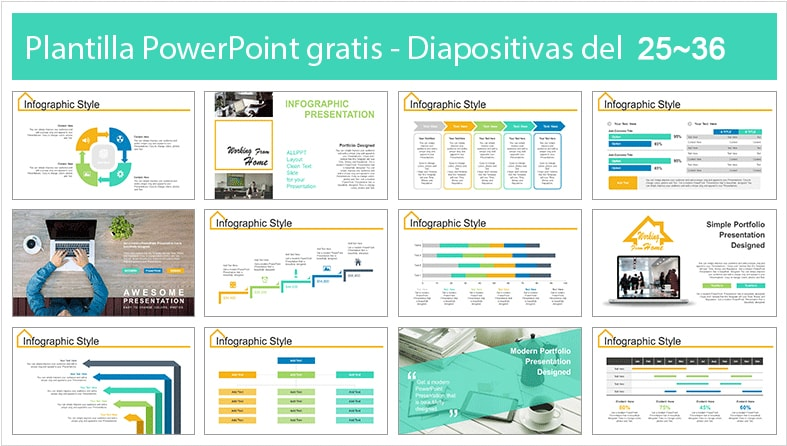 plantilla de trabajo online en power point.
