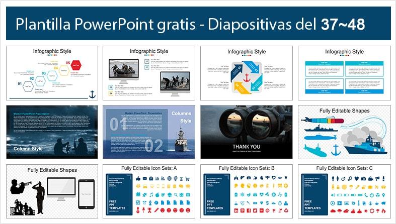 Diapositivas de fuerza naval gratis.