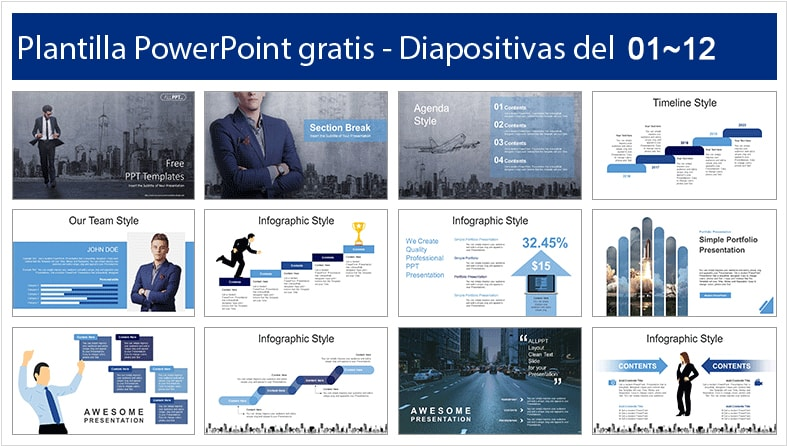 Business Success power point template free.