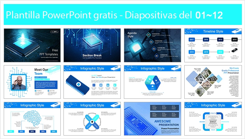 Computer hardware power point template free.