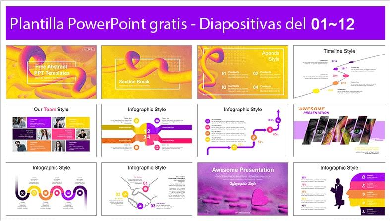 Gradient waves powerpoint template free.