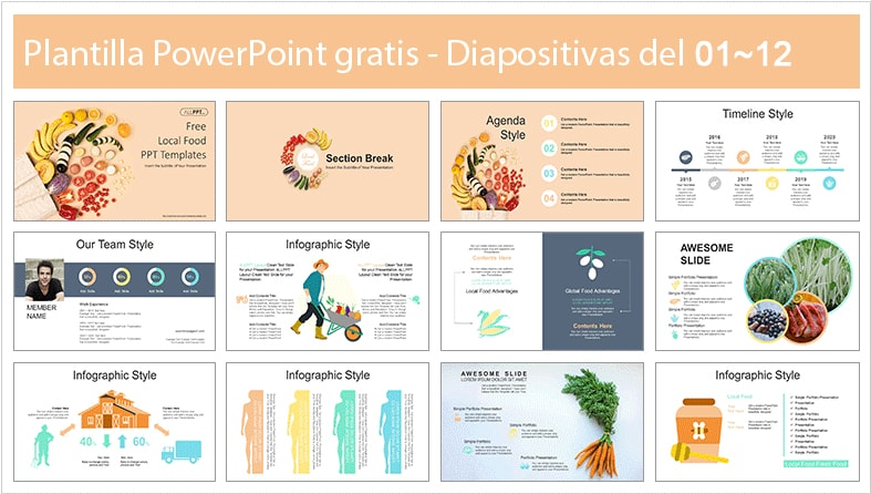 Harvest power point template free.