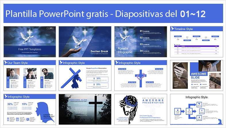 Holy spirit power point template free.