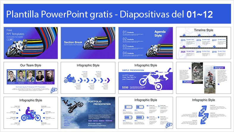 Motorcycle power point template free.