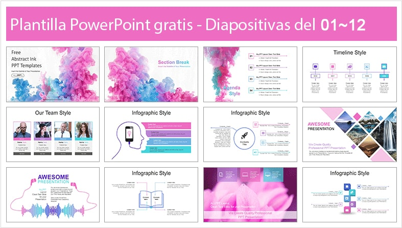 ink power point template free.