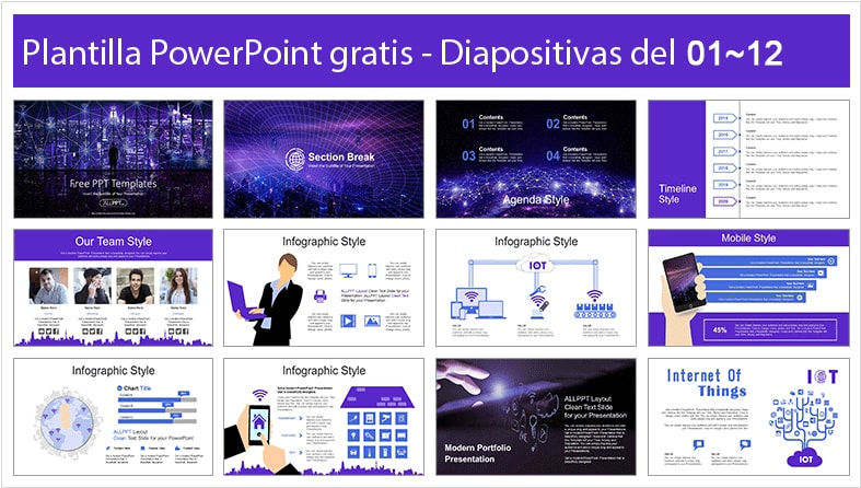 Plantilla power point de tecnologia 5g gratis.