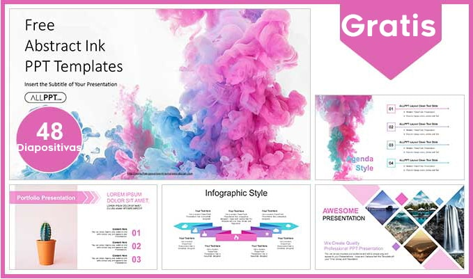 plantilla power point de tintas gratis.