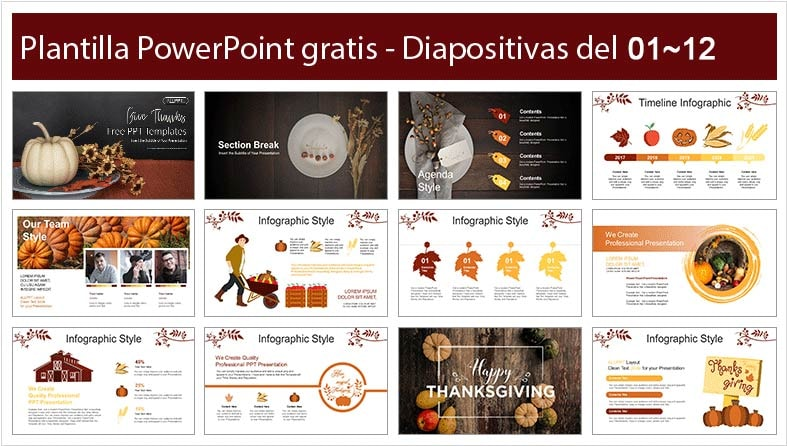 Thanksgiving PowerPoint template free.