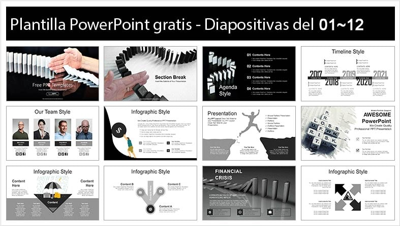 Financial crisis powerpoint template free.
