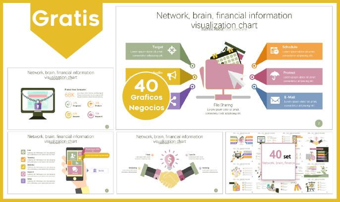 Gráficos de negocios y finanzas para power point gratis.