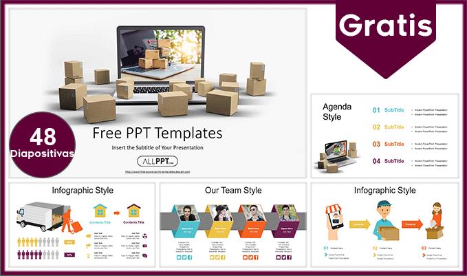 plantilla power point de delivery y envio de productos para descargar gratis.
