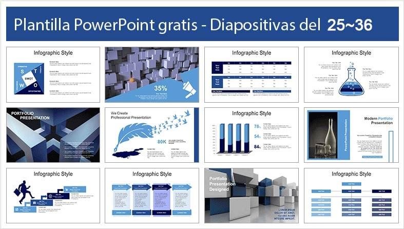 diapositivas de cubo en power point.