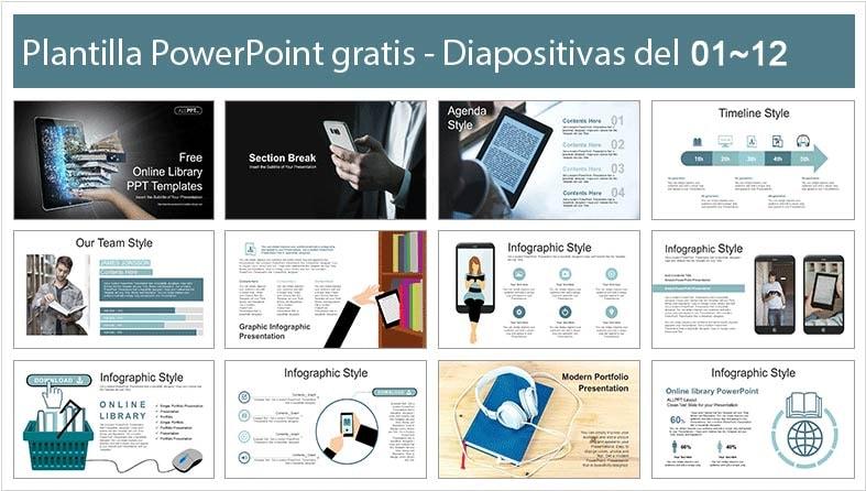 plantilla power point biblioteca virtual para descargar gratis.