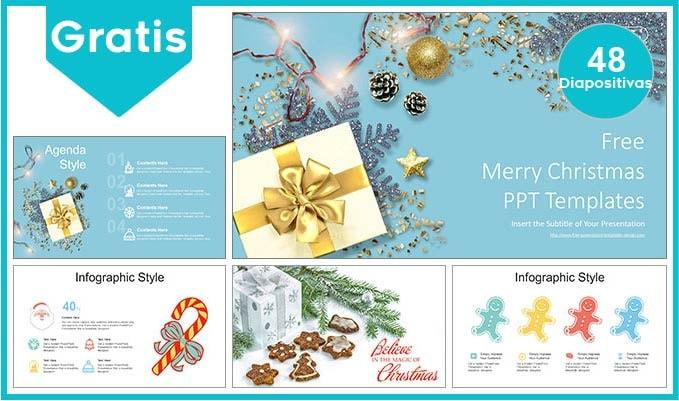 plantilla power point de regalos de navidad gratis.