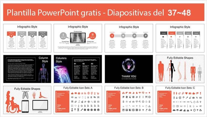 diapositivas de tratamiento a los huesos humanos.