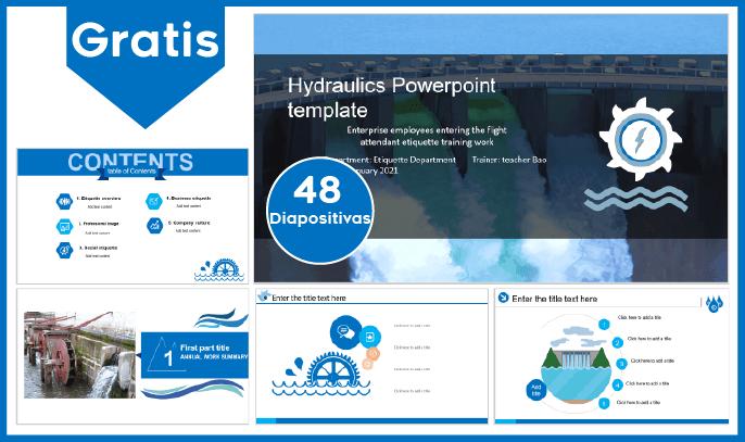 Plantilla power point de hidráulica para descargar gratis.