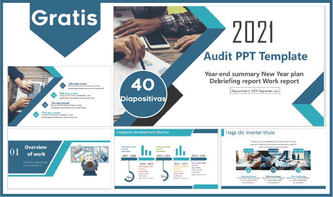 Plantilla power point para auditoria gratis.