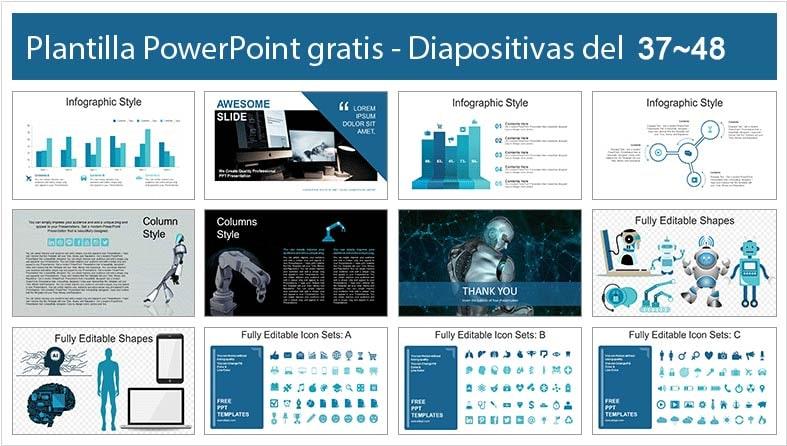 diapositivas de robot humanoide.
