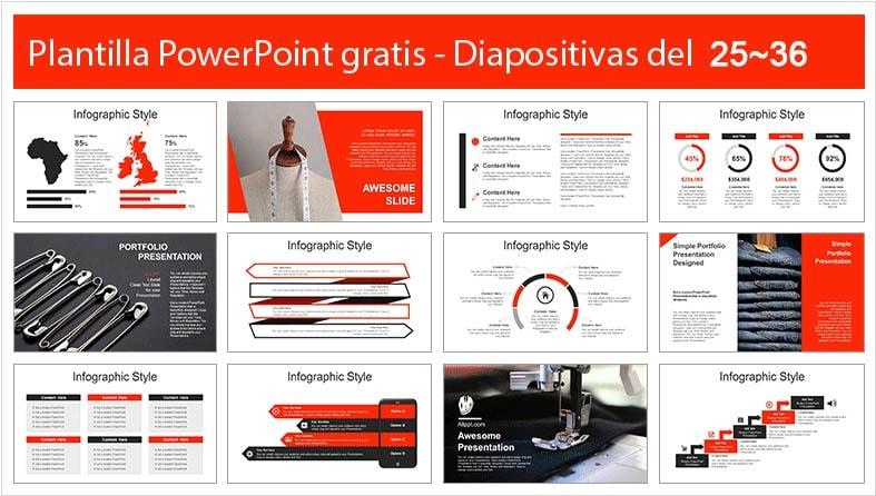 diapositivas de telas.