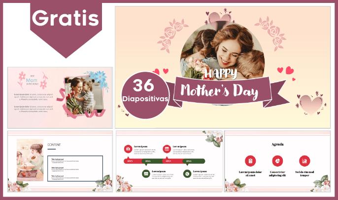 Plantilla power point del dia de la Madre para descargar gratis.