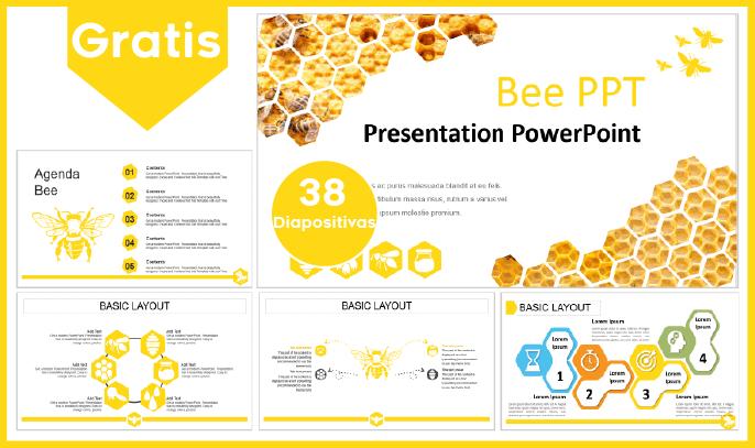 Plantilla power point de abeja para descargar gratis.