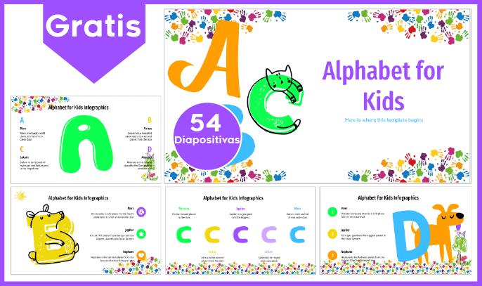 plantilla power point del abecedario para niños para descargar gratis.