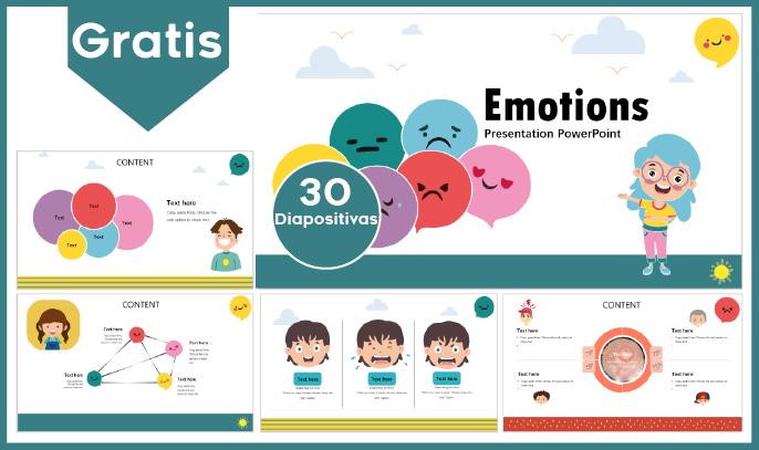 Plantilla power point de las emociones y sentimientos para descargar gratis,