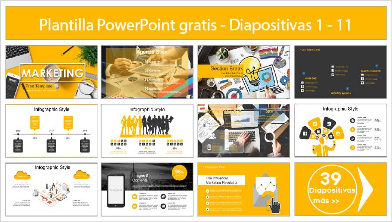 plantilla de marketing para powerpoint para descargar.