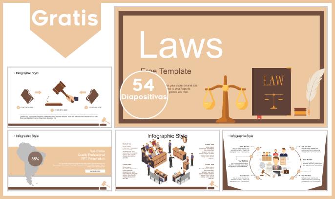 Plantilla PowerPoint de Leyes para Descargar.