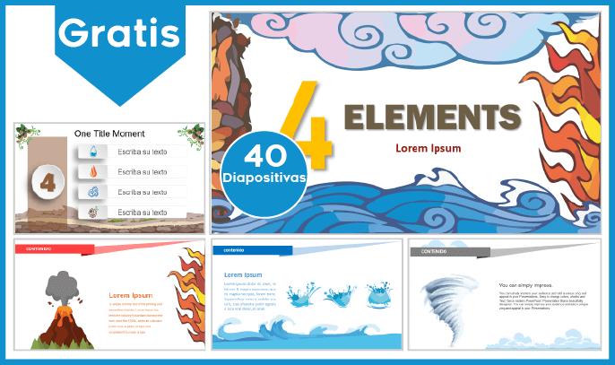 Plantilla PowerPoint De Los 4 Elementos Para Descargar.