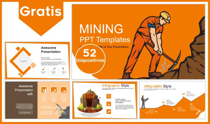Plantilla PowerPoint de Minería para descargar.