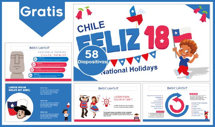Plantilla PowerPoint de Fiestas Patrias de Chile para Descargar.