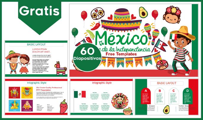 Plantilla PowerPoint de Fiestas Patrias de México para Niños para Descargar.
