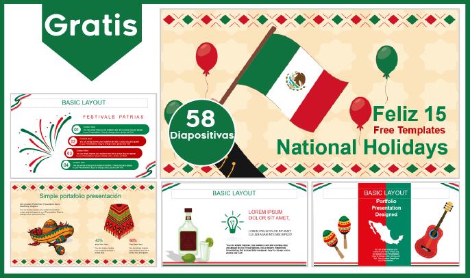 Plantilla PowerPoint de Fiestas Patrias de México para Descargar.