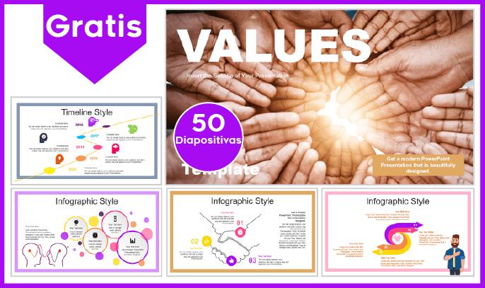Plantilla PowerPoint de los Valores para Descargar.