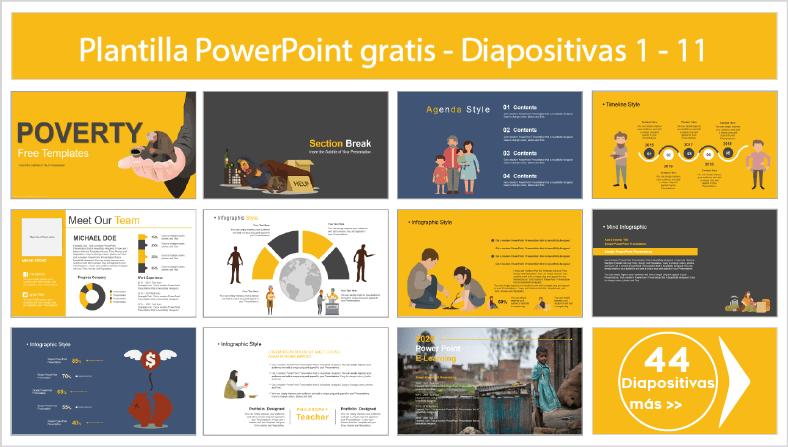 Plantillas power point de pobreza para descargar gratis ppt.