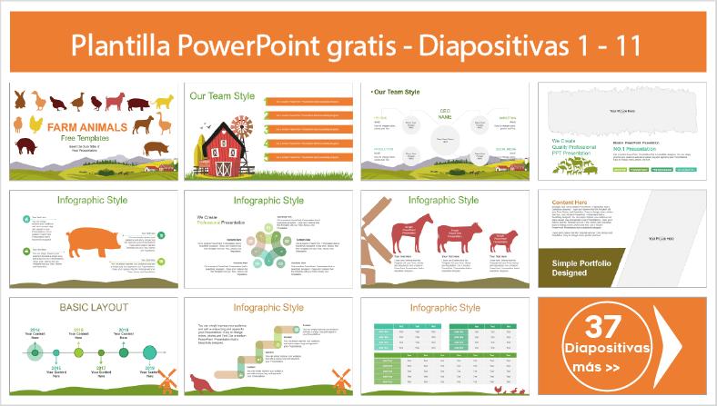 plantillas de animales de granja en power point para descargar gratis.