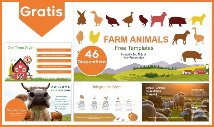 Plantilla PowerPoint de Animales de Granja para Descargar.