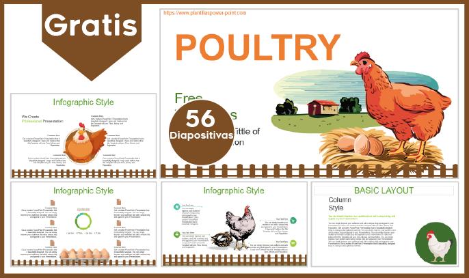 Plantilla PowerPoint de avícola para descargar.