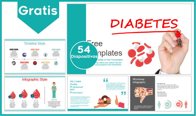 plantilla power point de diabetes para descargar gratis.
