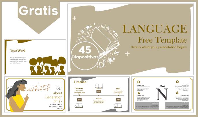 Plantilla PowerPoint de Lenguaje para Descargar.