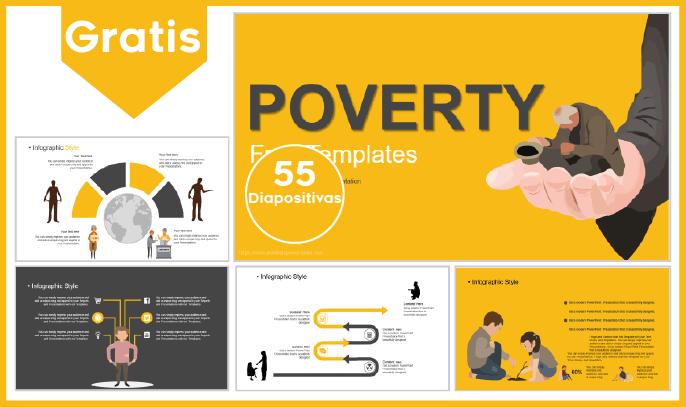 Plantilla PowerPoint de Pobreza para Descargar.