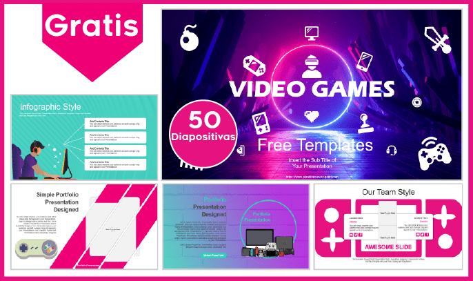 Plantilla PowerPoint de Videojuegos para Descargar.