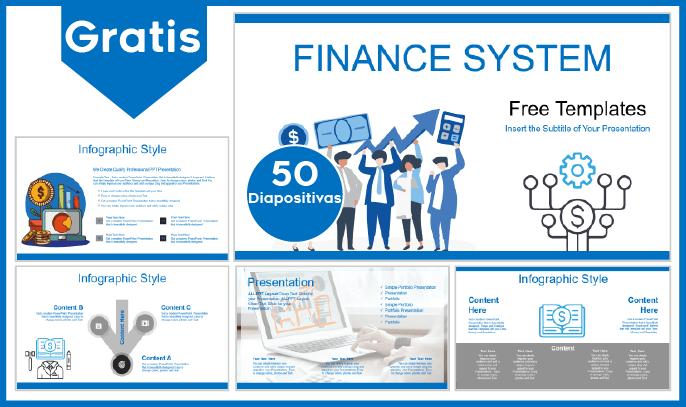 Plantilla PowerPoint del Sistema Financiero para Descargar.