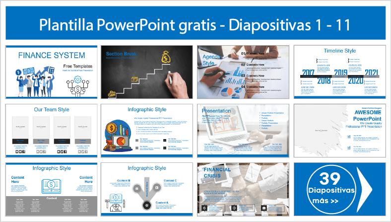 plantillas del sistema financiero para PowerPoint para descargar.