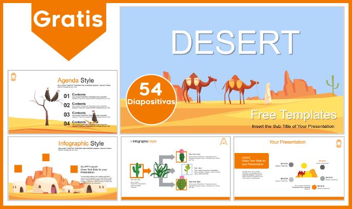 plantilla powerpoint del desierto para descargar.